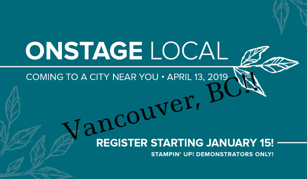OnStage Vancouver: April 13,2019