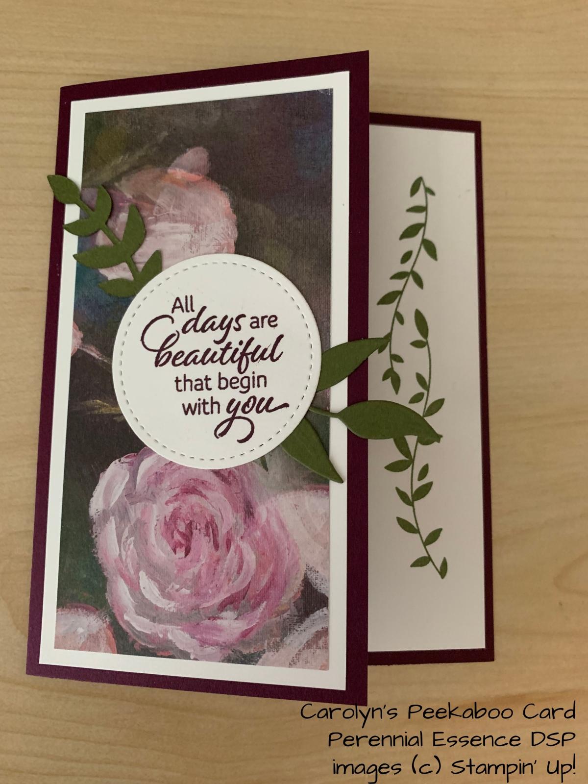 Tutorial: Peekaboo Card