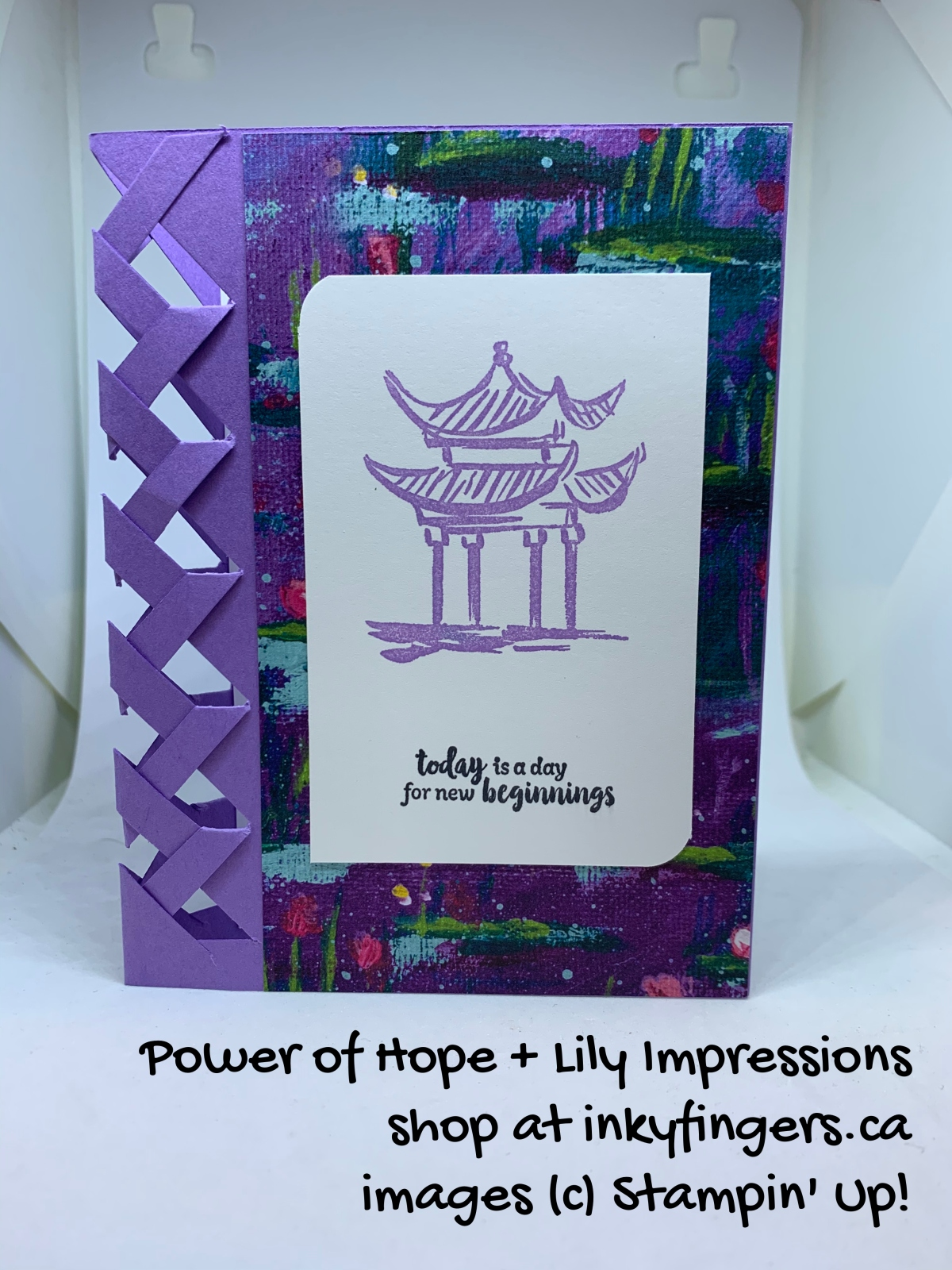 Video Tutorial: Basket Weave Card with LilyImpressions