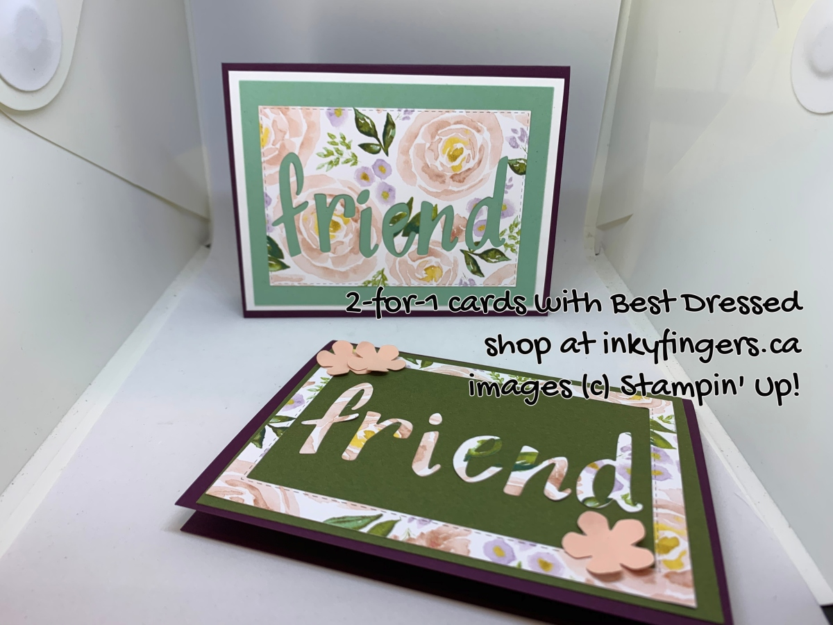 Video Tutorial: 2 for 1 Cards with Stitched RectangleDies