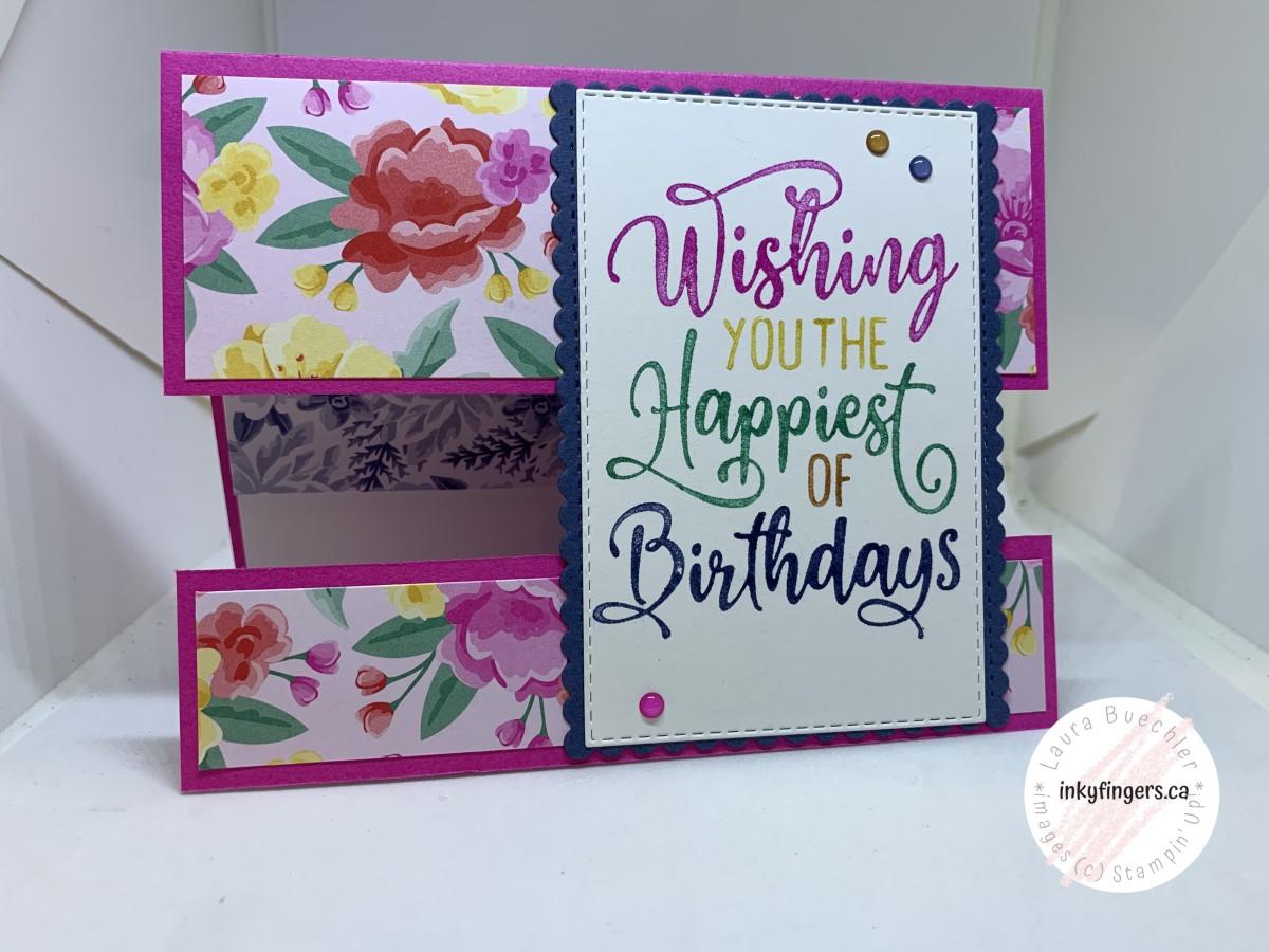 Video Tutorial: Happiest of Birthdays Split PanelCard